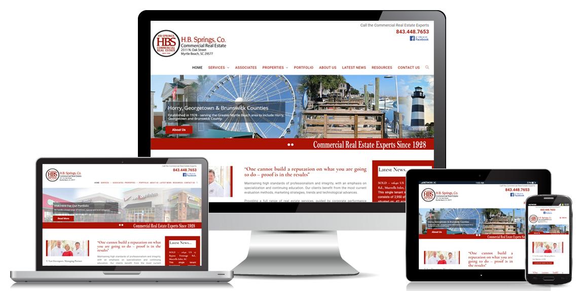 Commercial Real Estate Website Design - HB Springs