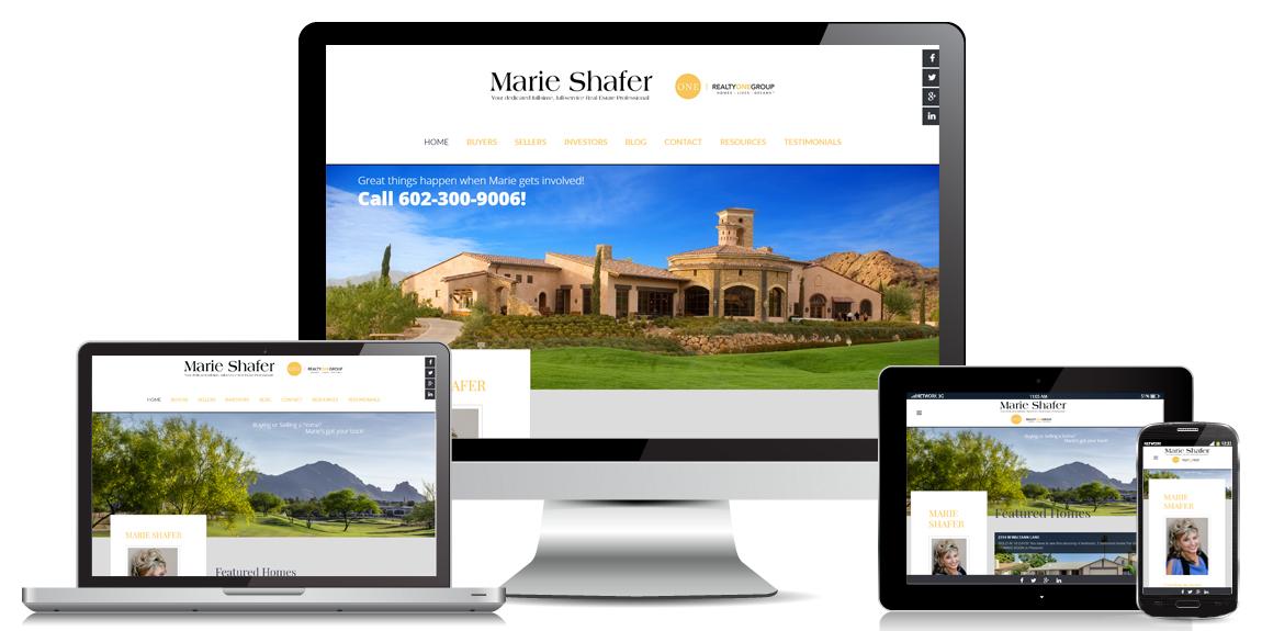 Real Estate Website Design - Marie Shafer Real Estate