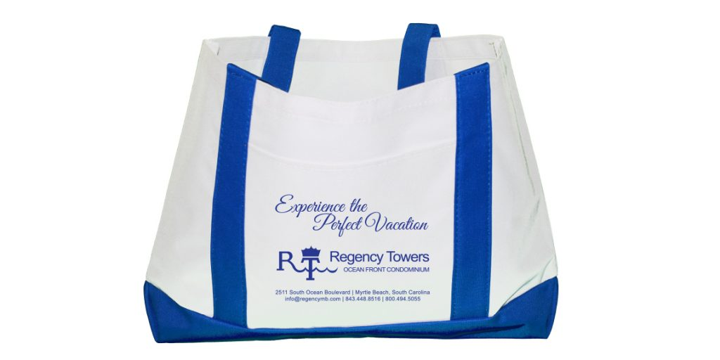 Boat Totes for Regency Towers designed by Marketing Provisions