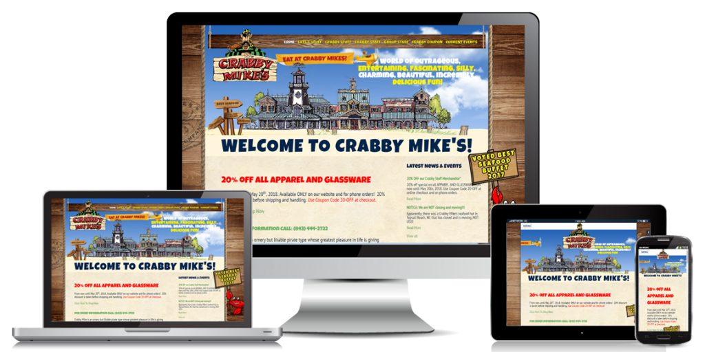 Restaurant Website Design Crabby Mikes