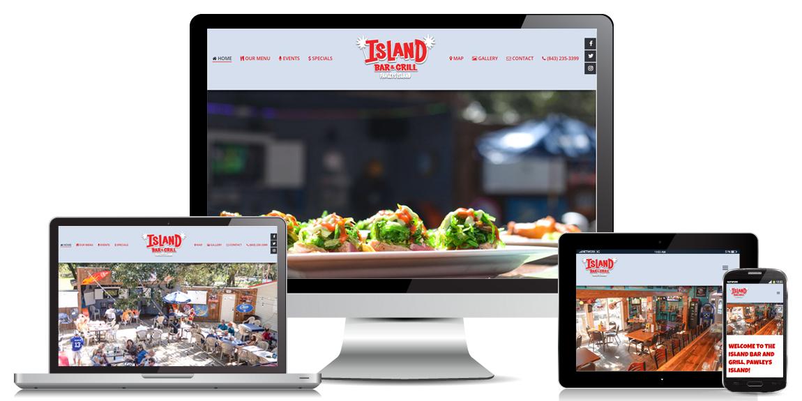 Restaurant Website Design - Island Bar & Grill
