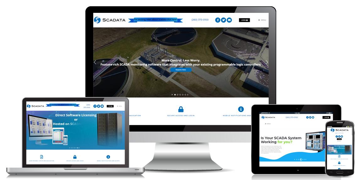 SCADATA - Manufacturer Web Design