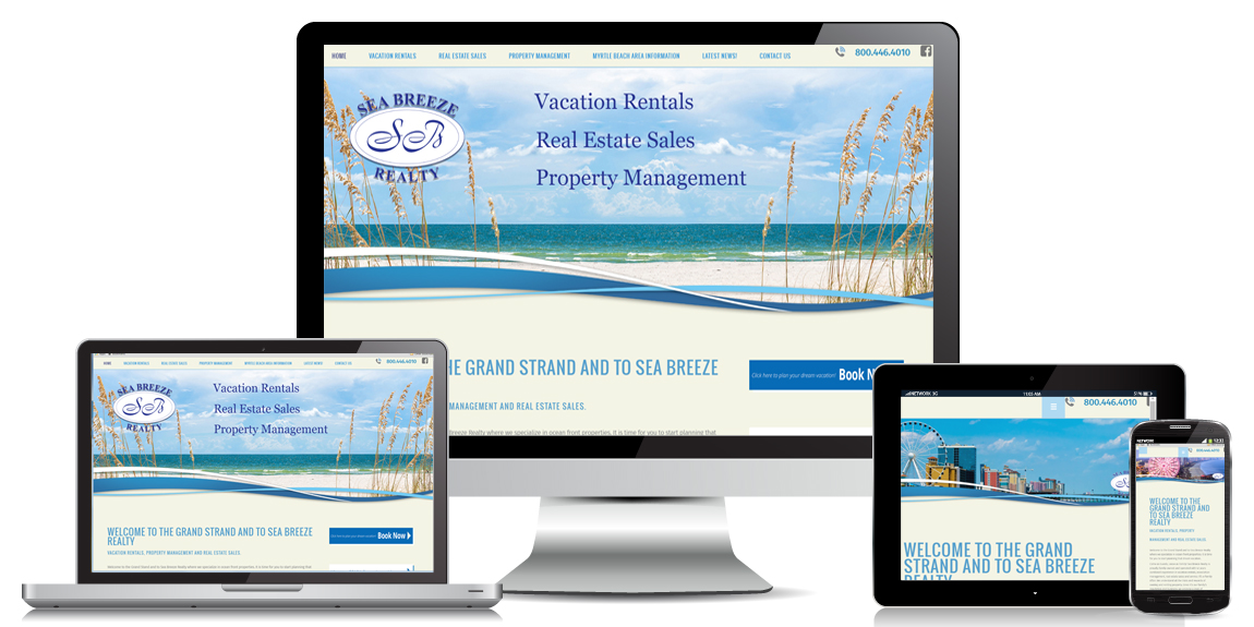 Sea Breeze Realty – Web Design