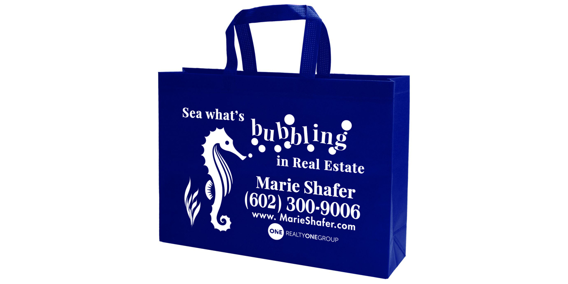 Custom Tote Bag for Marie Shafer Real Estate by Marketing Provisions