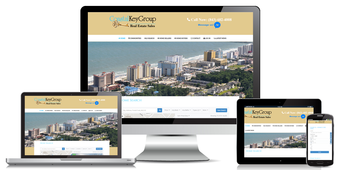 Coastal Key Group Real Estate – Web Design
