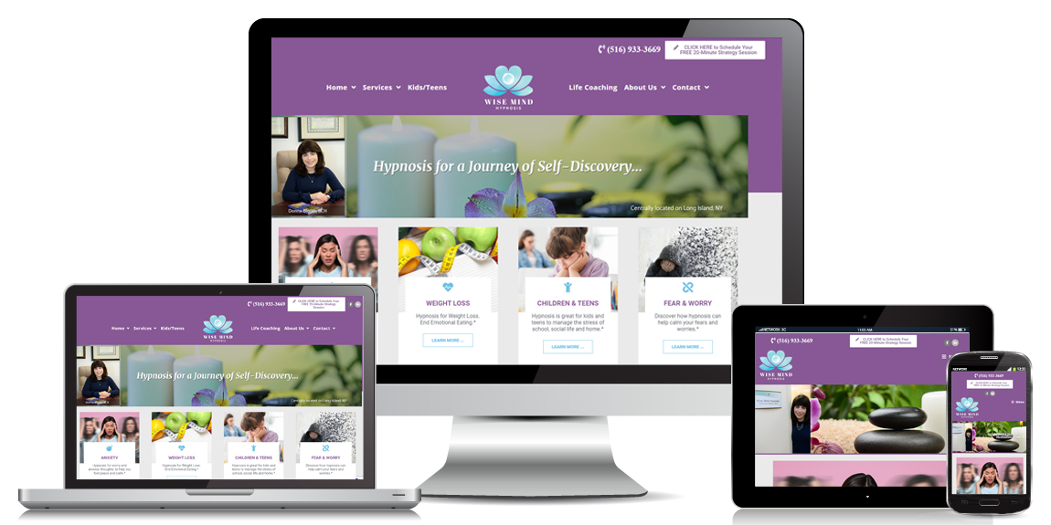 Health & Wellness Website Design - Wise Mind Hypnosis