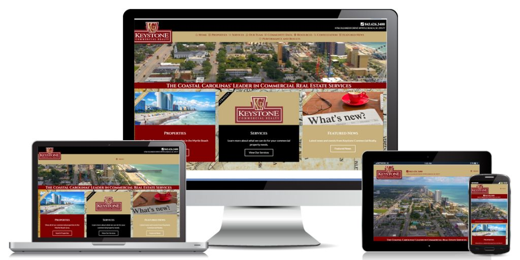 Keystone Commercial Realty - Real Estate Web Design