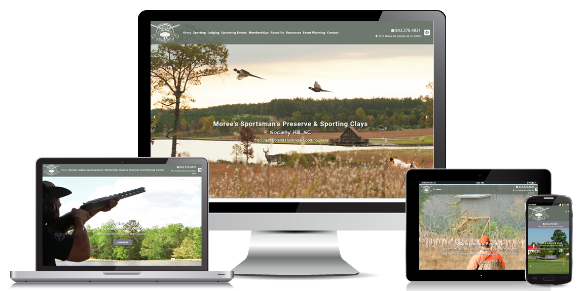 Moree's Preserve - Leisure Website Design