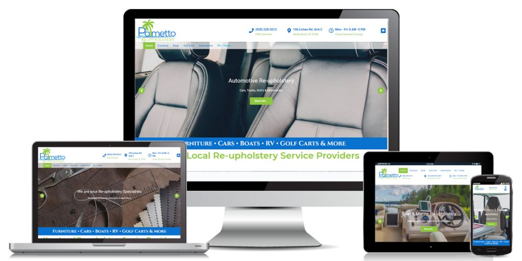 Palmetto Reupholstery - Contractor Website Design