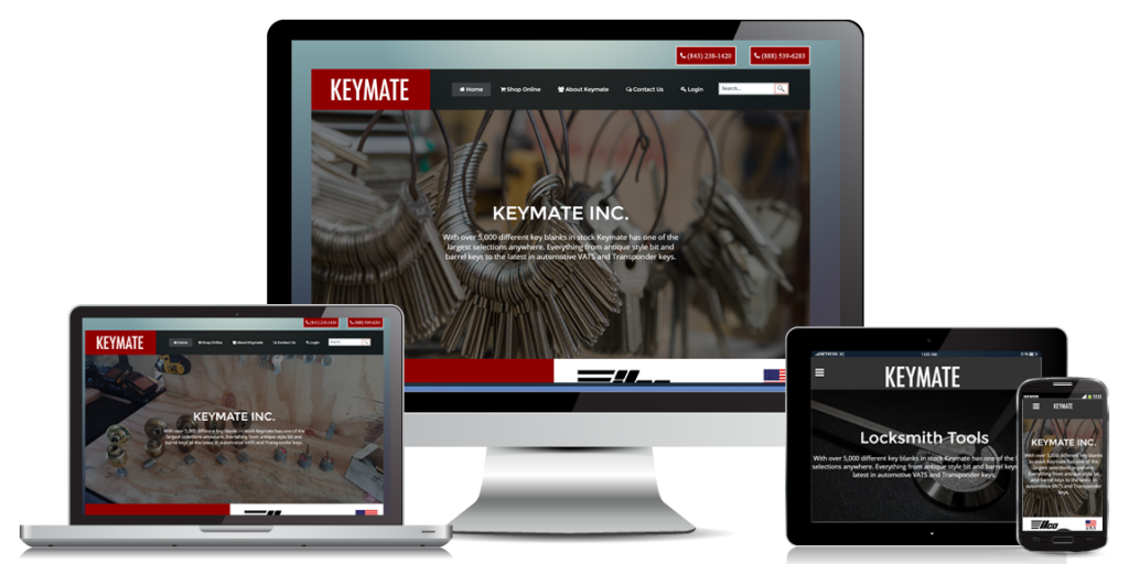 Ecommerce website design keymate