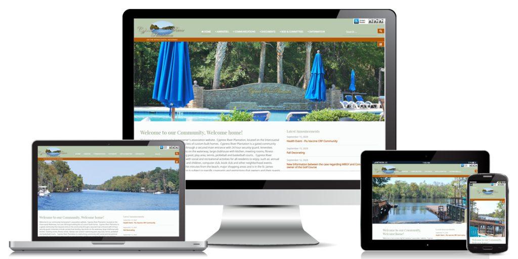 HOA Website Design – Cypress River POA