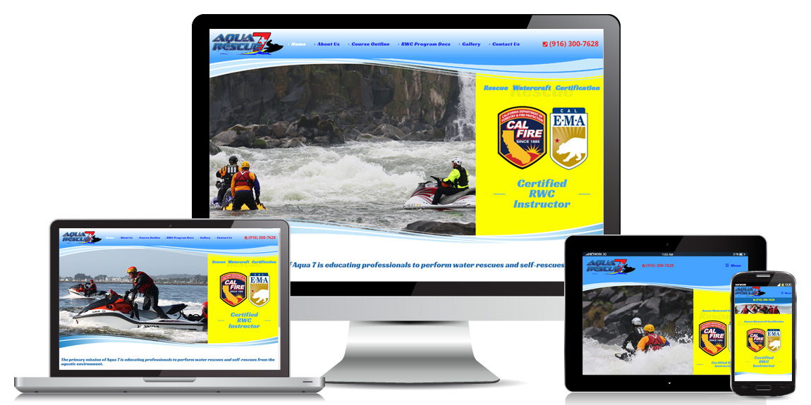 Aqua 7 Rescue – Education Web Design