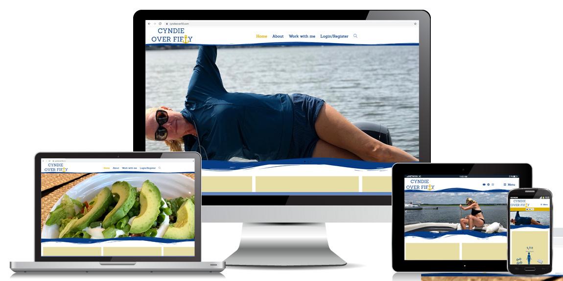 Cyndie Over 50- Health & Wellness Web Design