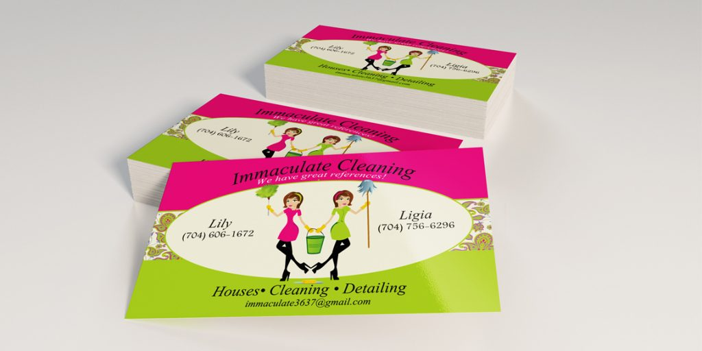 Business Cards for Immaculate Cleaning