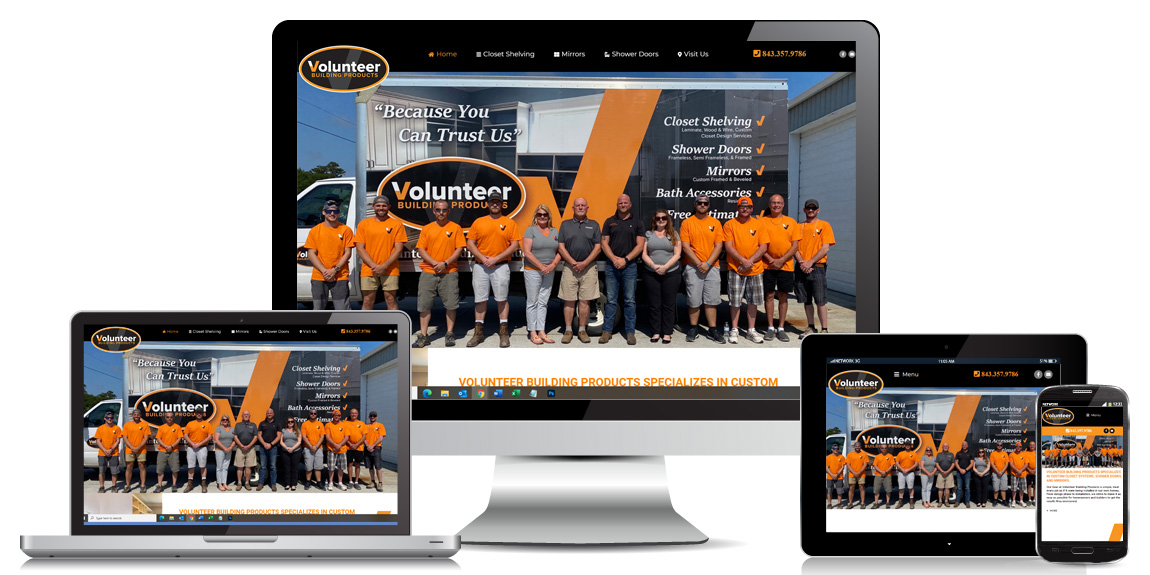 Volunteer Building Products – Contractor Web Design