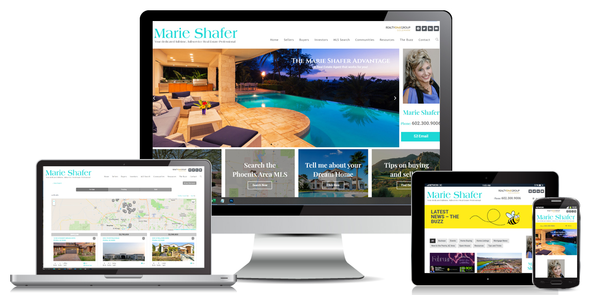 Marie Shafer Real Estate Web Design by Marketing Provisions