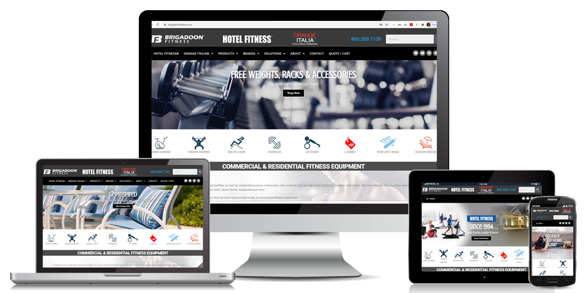 Brigadoon Fitness – E-commerce Web Design