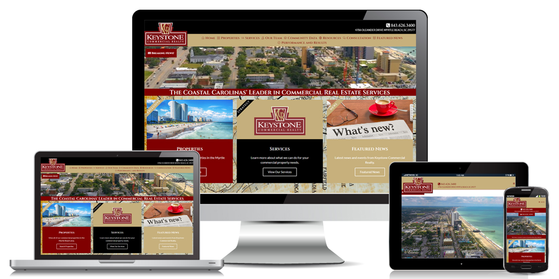 Read more about the article Keystone Commercial Realty – Real Estate Web Design